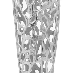 Ohlson Silver Coral Inspired Perforated Vase