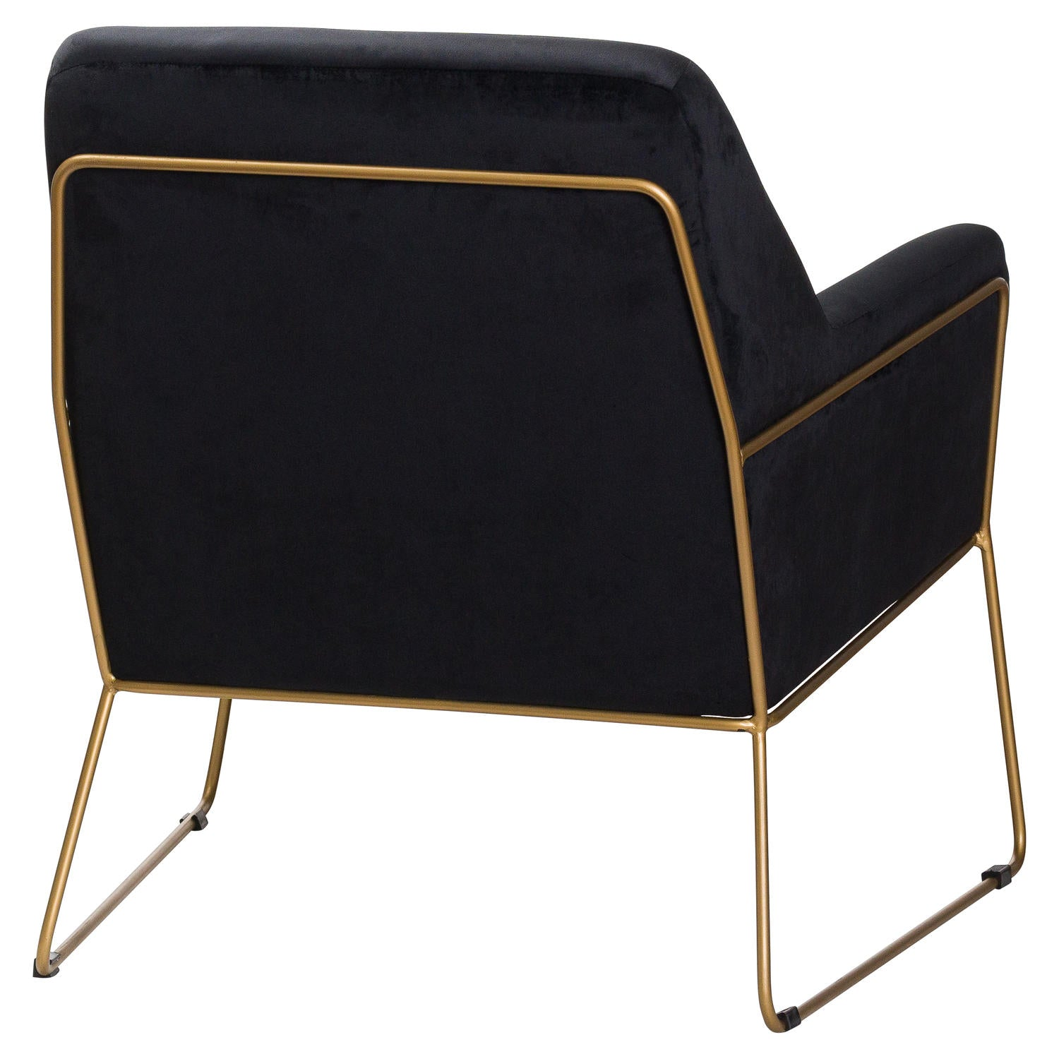 Flynn Framed Black Velvet Club Chair