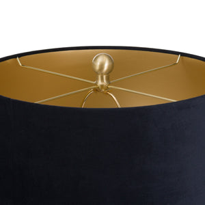 Barbro Table Lamp with Black Velvet Shade