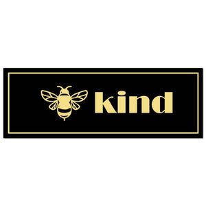 Be Kind Metallic Plaque