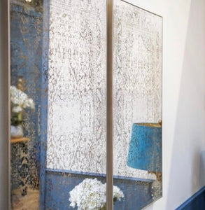 Antique Etched Wall Art Mirror