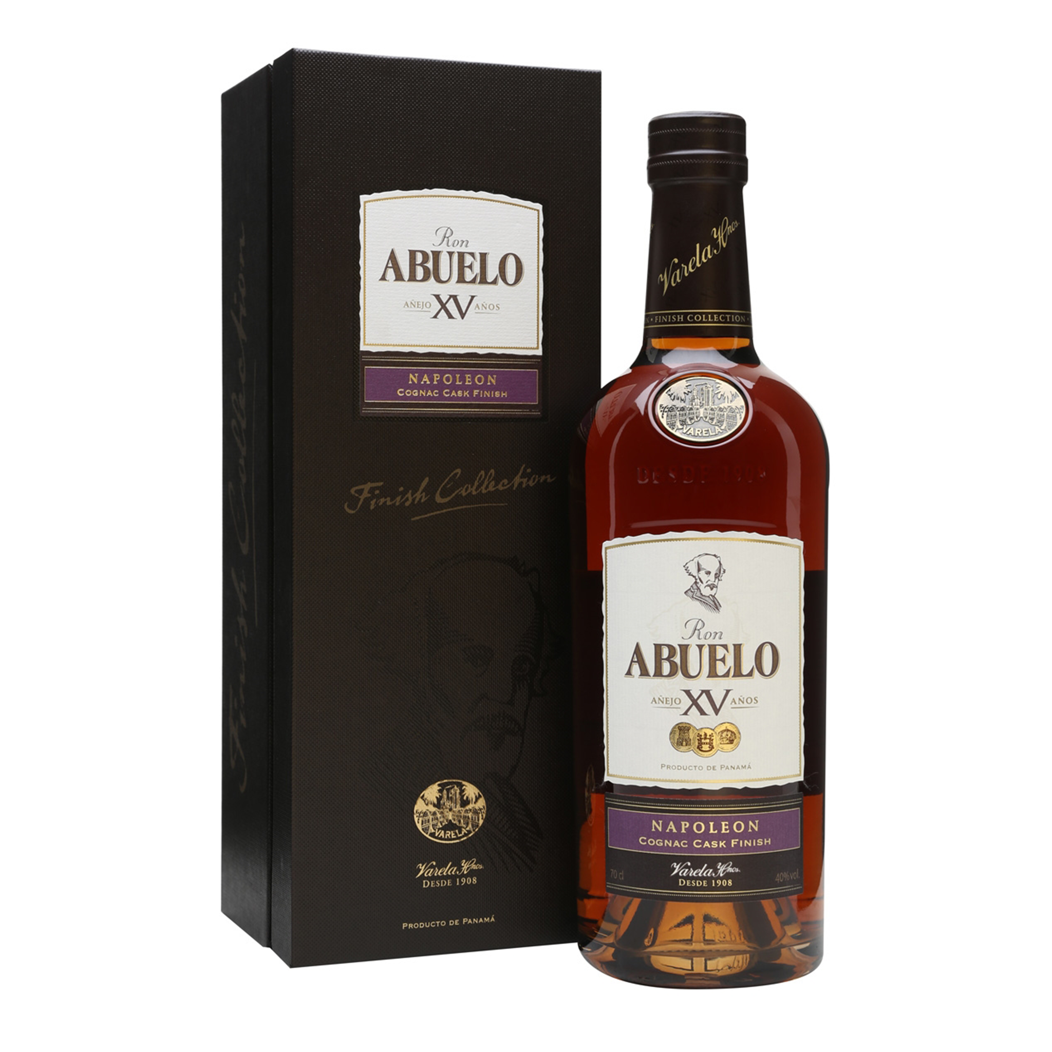 RON ABUELO  XV AÑOS FINISH COLLECTION NAPOLEON x 750ML
