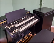 Custom satin black hammond c2/ c3 & Leslie Speaker