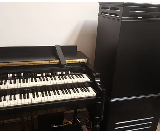 Custom Satin Black Hammond Bv organ & Leslie speaker