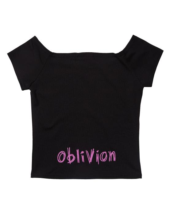 NINI Crop T-shirt Black