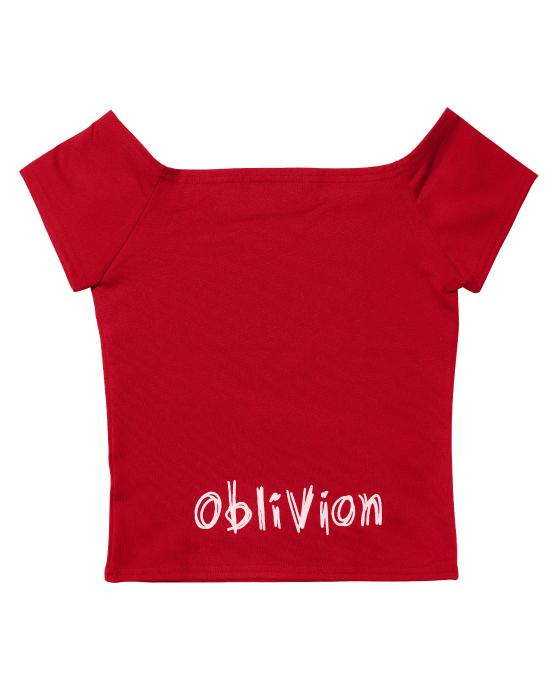 NINI Crop T-shirt Red