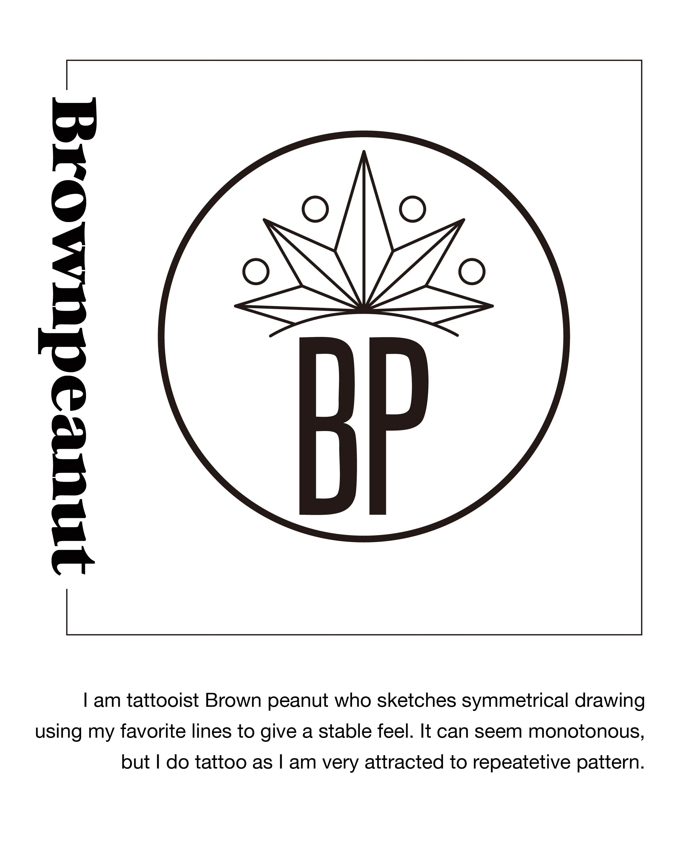 (BASIC ) Brown Peanut - Mandala 1