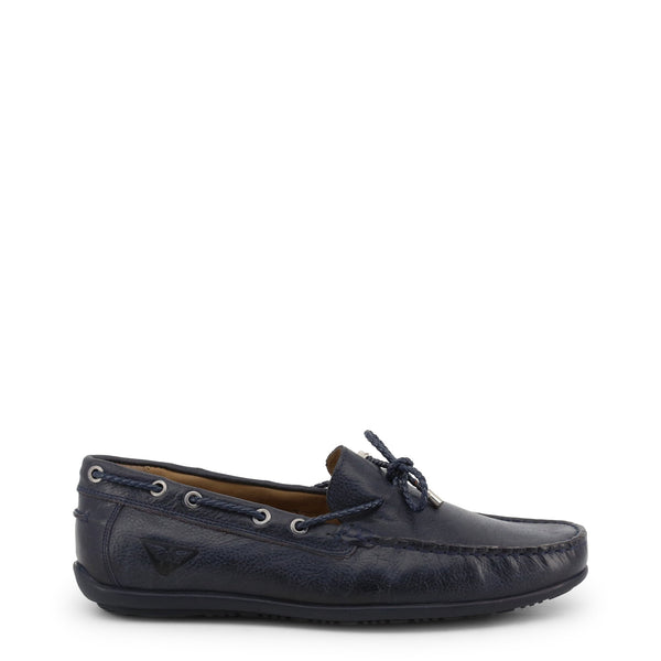 Тъмносини кожени boat shoes