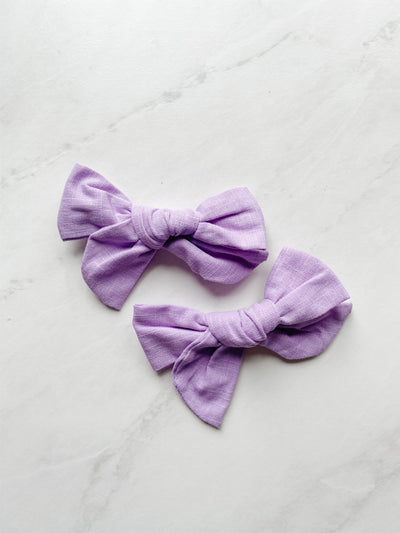 Lilac Love Linen - Clip Set of 2
