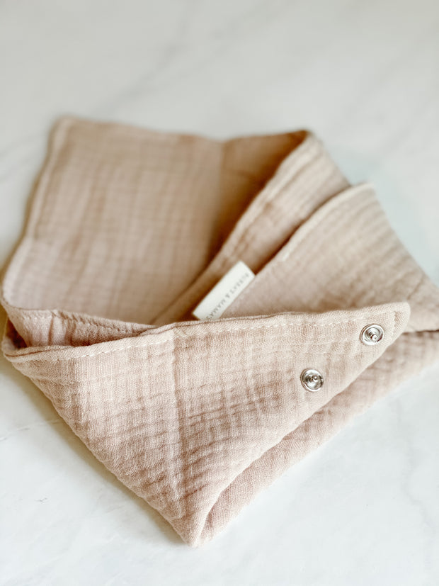 Lux Baby Bandanna Bib - Whole Wheat Toast
