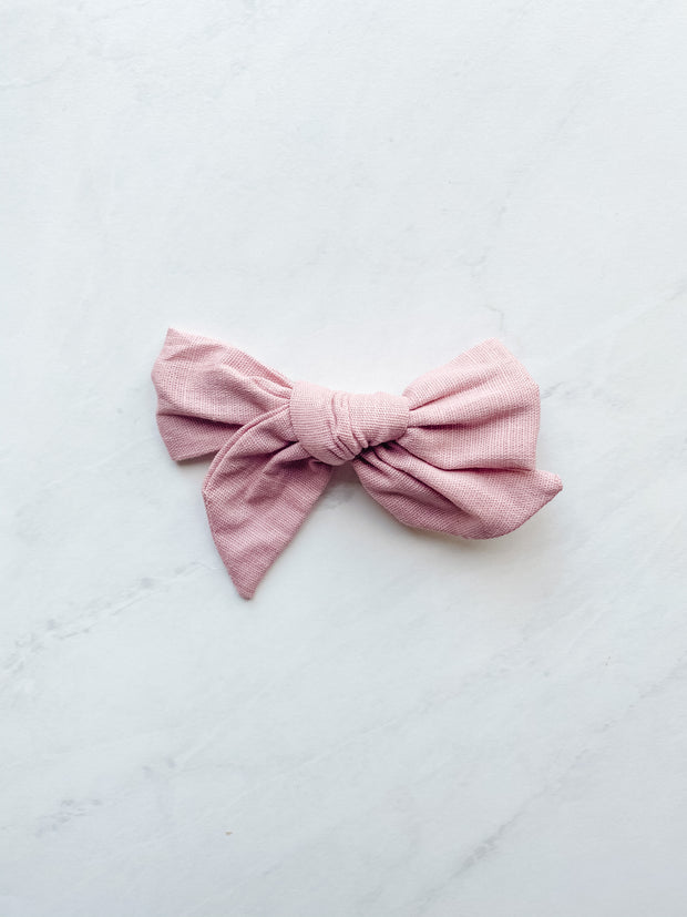 Dusty Rose Linen - Clip