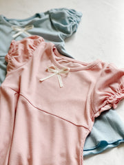 Soft Cotton - Puff Sleeve Dress