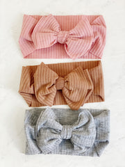 RIBBED COTTON BOW