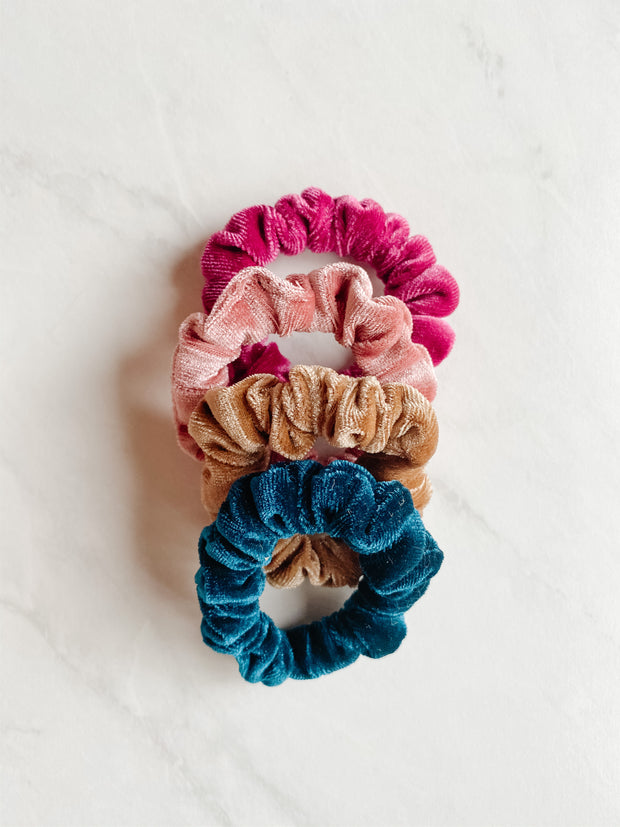 SCRUNCHIE SET - MAMA & MINI, RASPBERRY JAM