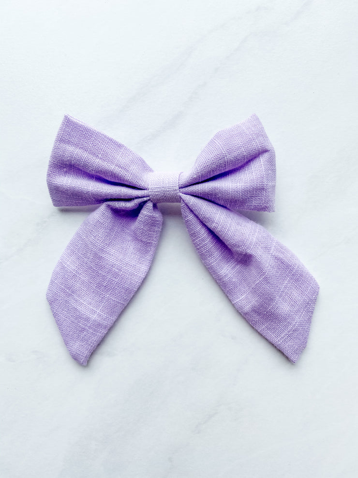 Lilac Love - Linen Sailor Clip