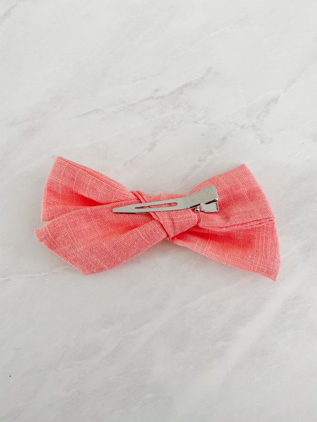 Coral Linen - Clip Set of 2
