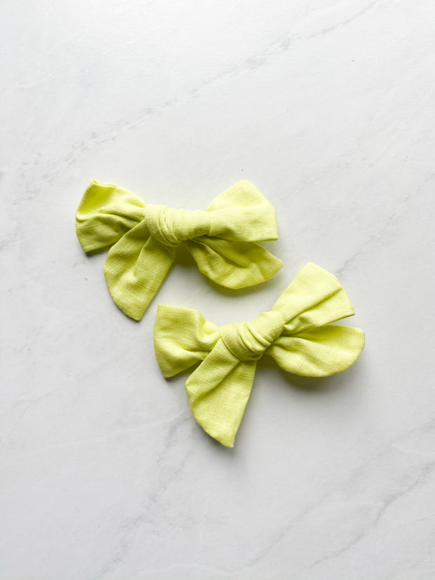 Lemon Linen - Clip Set of 2