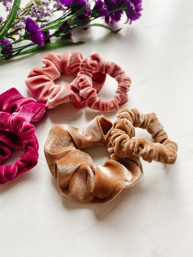 SCRUNCHIE SET - MAMA & MINI, BROWN SUGAR