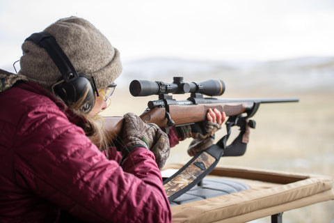 Erin Campbell Sighing in Rifle - RadCast Outdoors