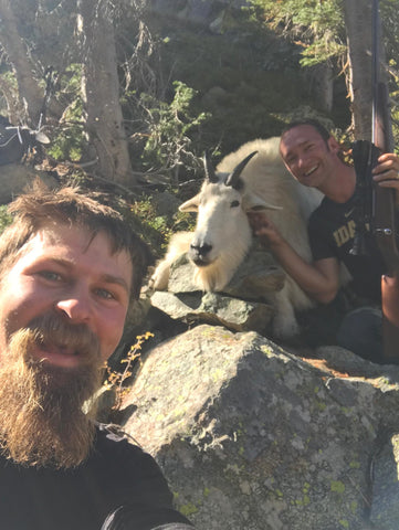 Seth and Justin with their Idaho Mountain Goat