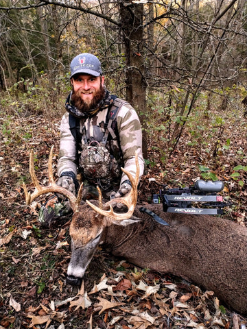 David Merrill RadCast outdoors with a big Whitetail Buck in Missiouri