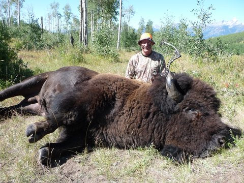Trophy Bull Bison DIY Archery Hunt Wyoming with Rick Parish