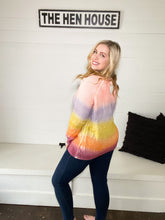 Load image into Gallery viewer, Blush & Lavender Multi Stripe Sweater
