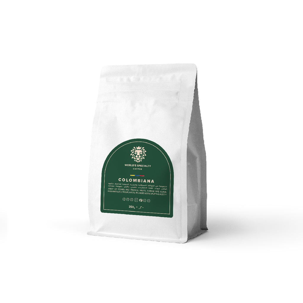 Diego Samuel Colombiana Coffee Beans Castillo 1920m Washed 250g - Worlds Specialty Coffee