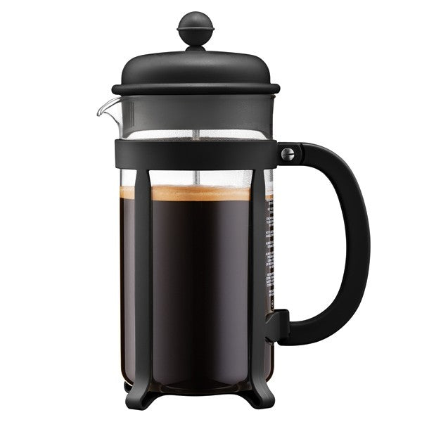 Bodum Java French Press Coffee Maker, Black 1L 8 cups - Worlds Specialty Coffee