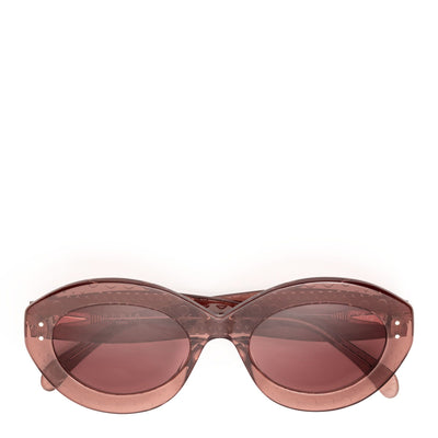 Dark pink acetate sunglasses