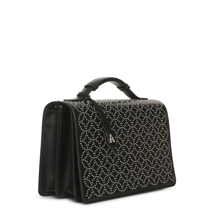 Franca Medium black studded bag