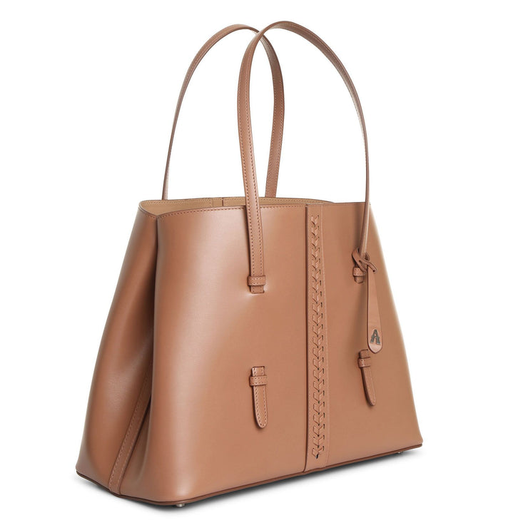 Mina 32 sahara leather tote bag