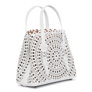 Mina Mini New Vienne white tote