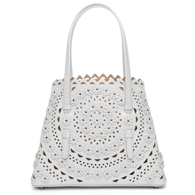 Mina 25 Flower light grey tote bag