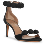 Bombe 70 black suede sandals