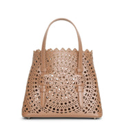 Mina mini 20 nude leather tote bag