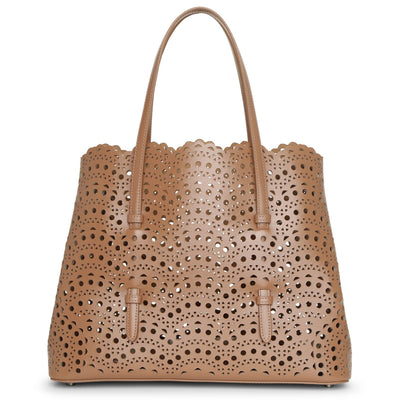 Mina 32 dark nude tote bag