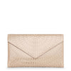 Oum nude leather envelope clutch