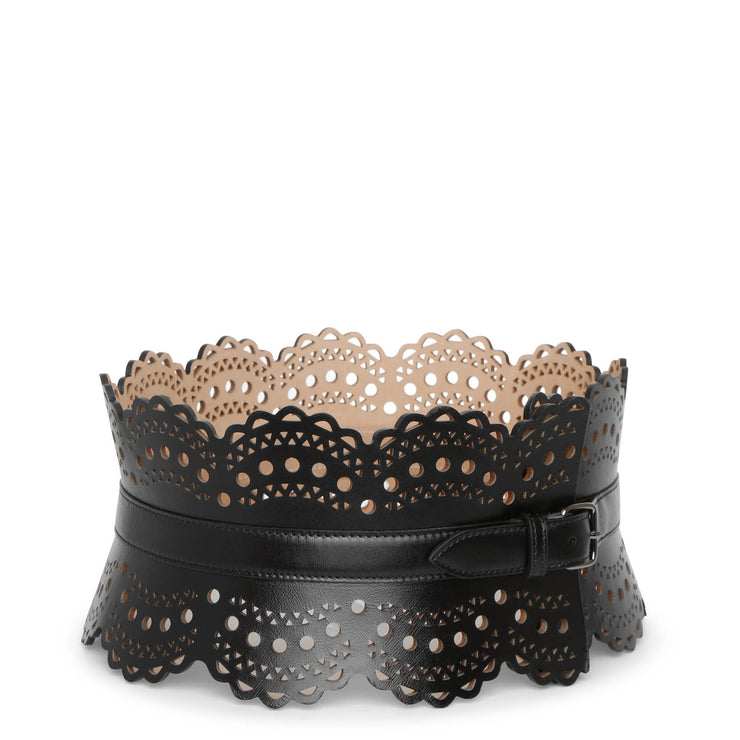 Laser cut corset black belt