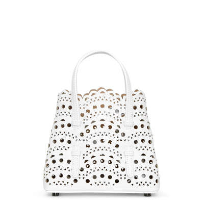 Mina 16 white mini tote bag