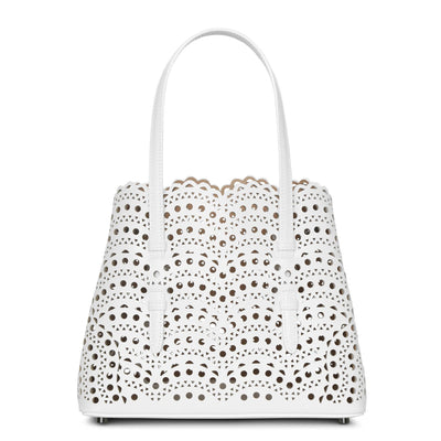 Mina 25 white tote bag