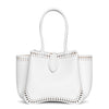 Angele 20 white leather tote bag
