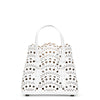 Mina 16 white leather tote bag