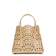 Mina 16 desert beige leather tote bag