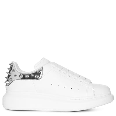 White and studded mirror classic sneakers