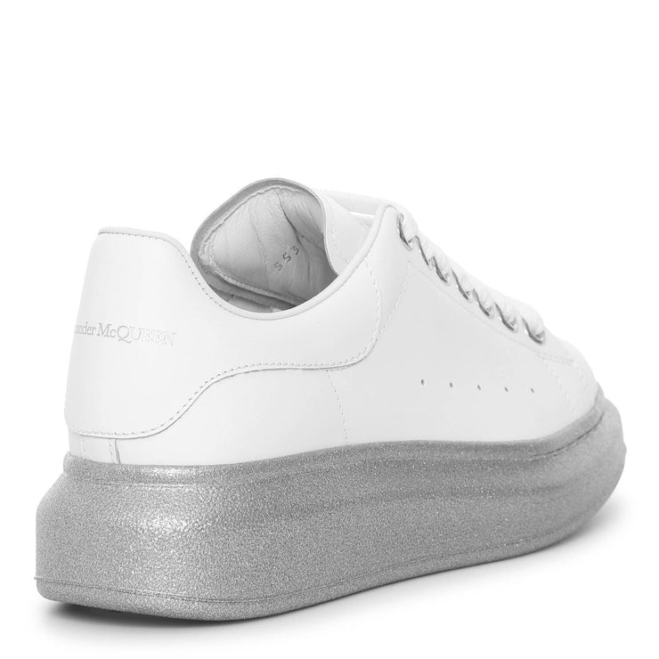 White and silver sole classic sneakers