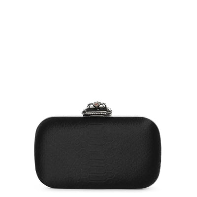 Spider satin clutch