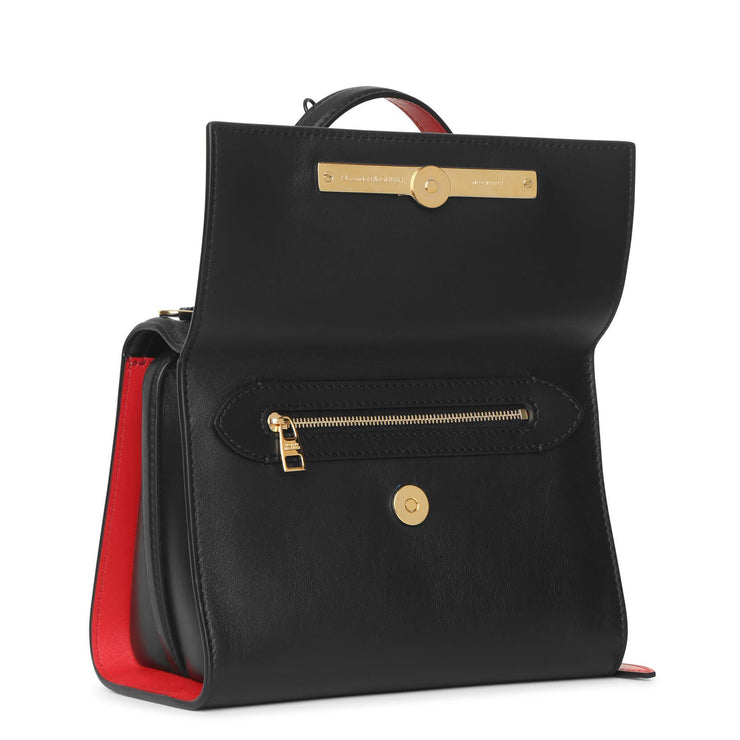 The Story black and red flap bag