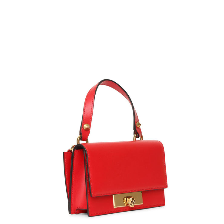 Skull Lock red small shoulder bag