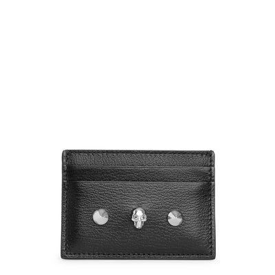 Black skull and stud card holder